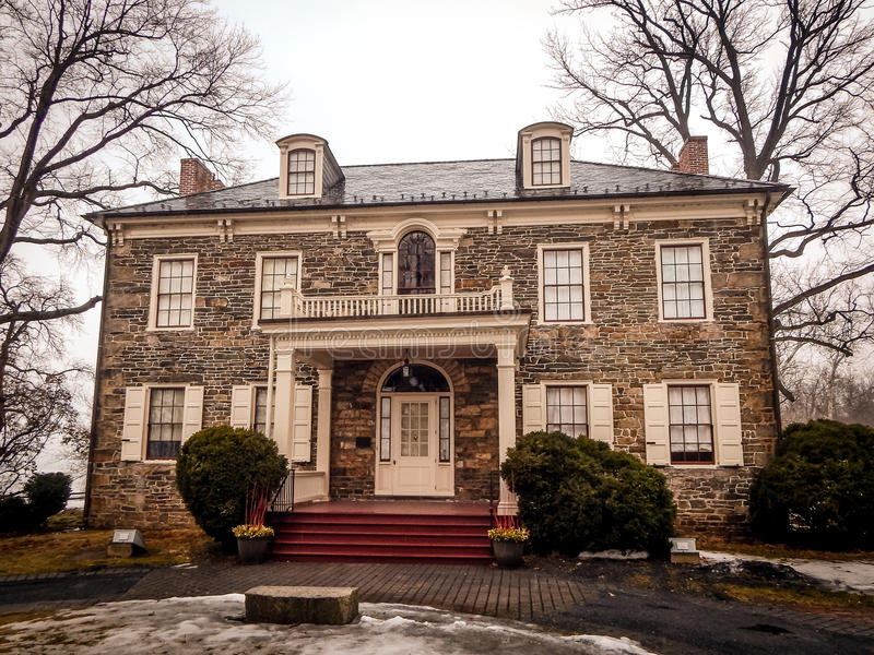 Manoir historique sur le fort Hunter Harrisburg Pennsylvania image stock