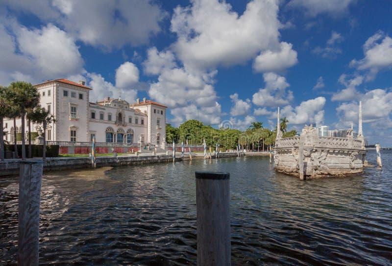 Manoir Miami la Floride de Vizcaya image stock