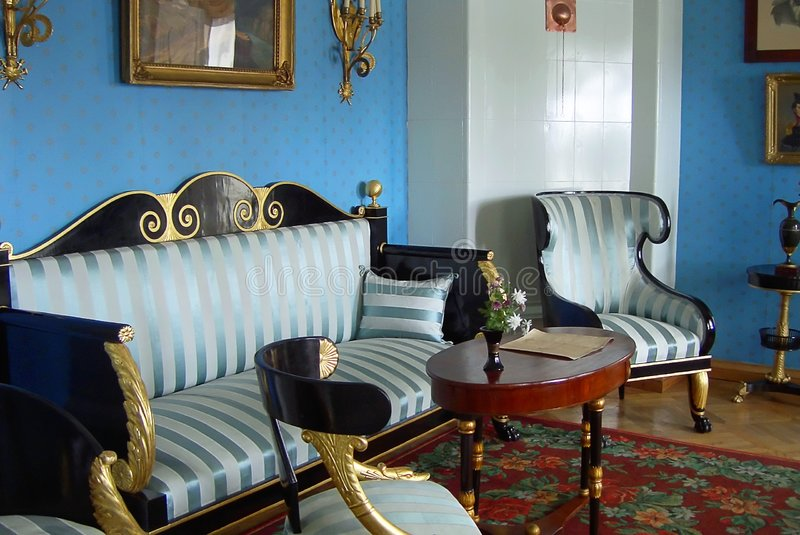 Manoir nobiliary antique images stock