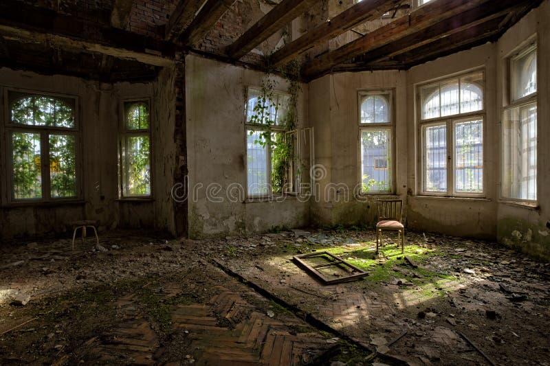 Manoir vieux d'un siècle oublié. Gda?sk - la Pologne. photographie stock libre de droits