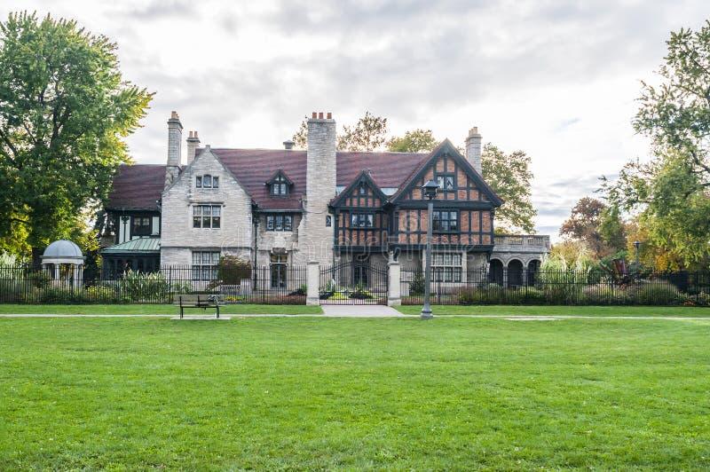 Manoir Windsor Ontario de Willistead photo stock