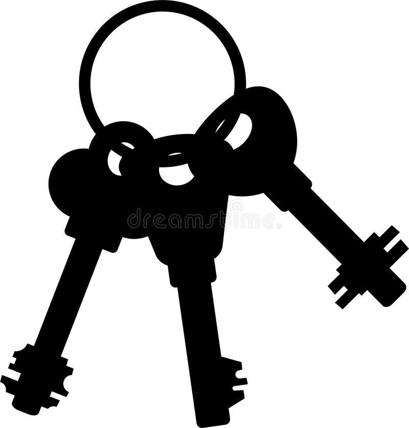 Manojo de claves stock de ilustración