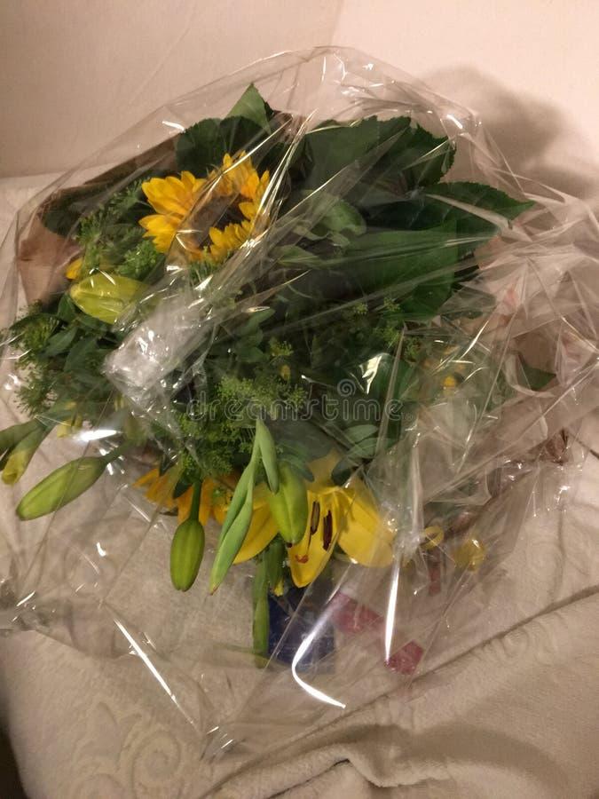 Manojo de flores amarillas: Color de los celos fotografía de archivo libre de regalías