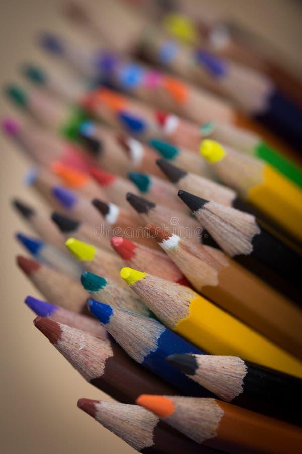 Manojo de lápices coloreados fotografía de archivo libre de regalías