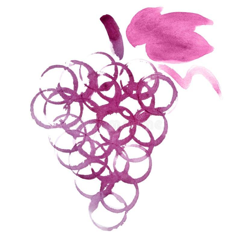 Manojo de las uvas stock de ilustración