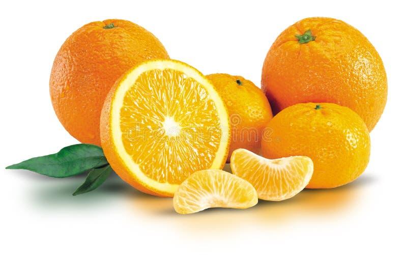 Manojo de naranjas frescas imagenes de archivo