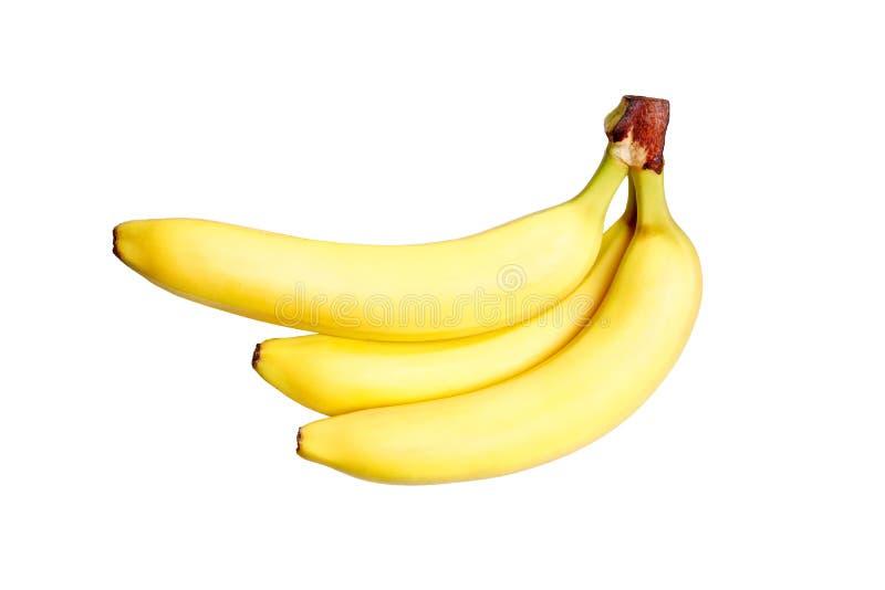Manojo de plátanos aislados en el fondo blanco Foto de alta resolución fotografía de archivo libre de regalías