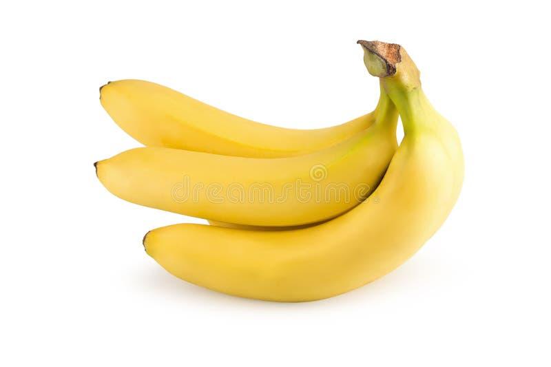 Manojo de plátanos aislados en un fondo blanco imágenes de archivo libres de regalías