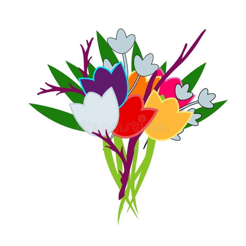 Manojo de tulipanes fotos de archivo