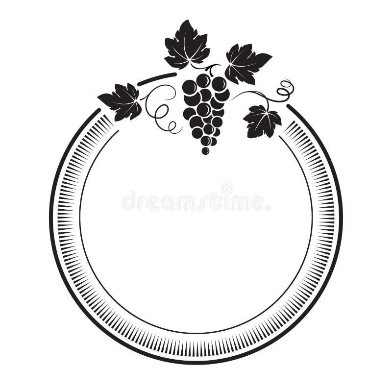 Manojo de uvas con las vides y las hojas imagenes de archivo