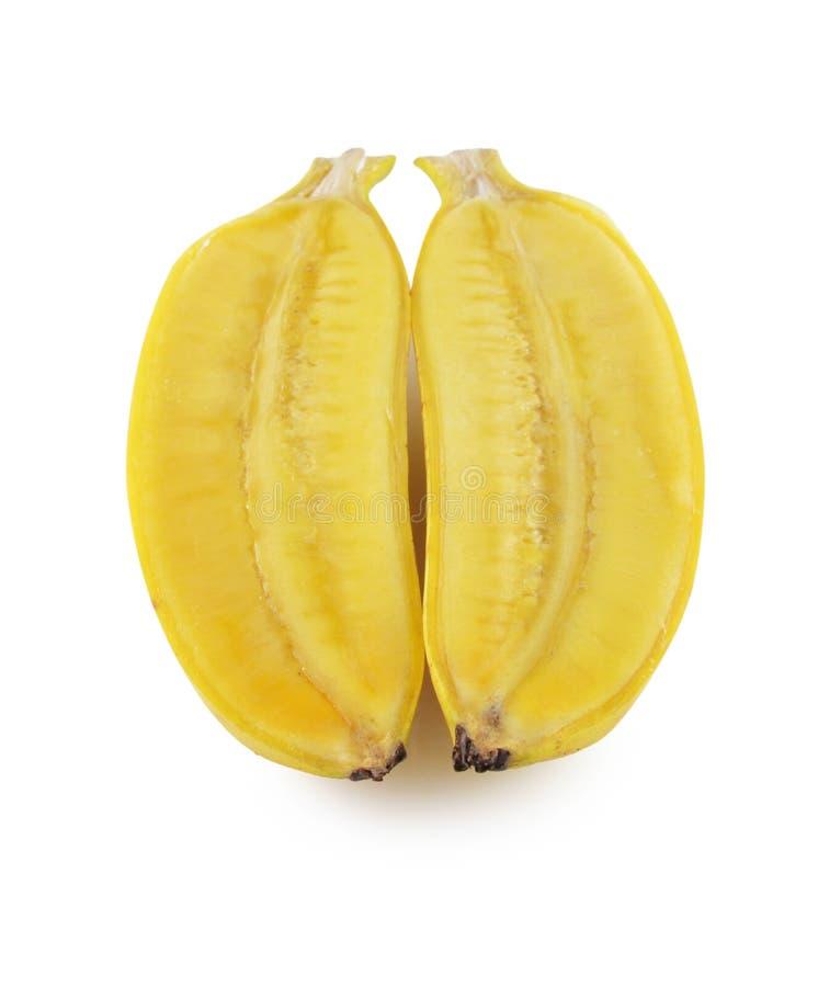 Manojo maduro fresco de los plátanos aislado en el fondo blanco fotografía de archivo