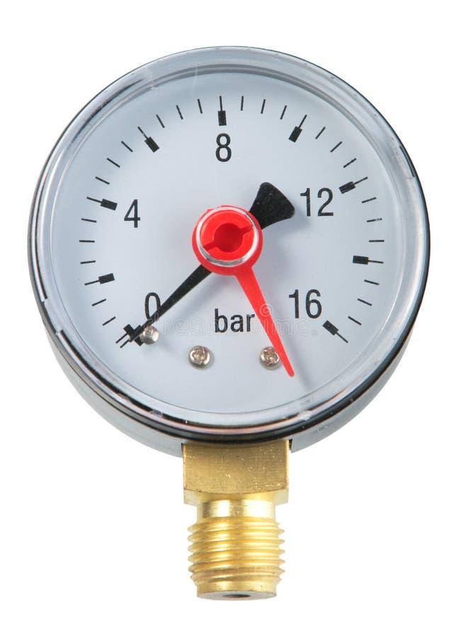 Manometer. Close-up. Isolated on white background stock photography