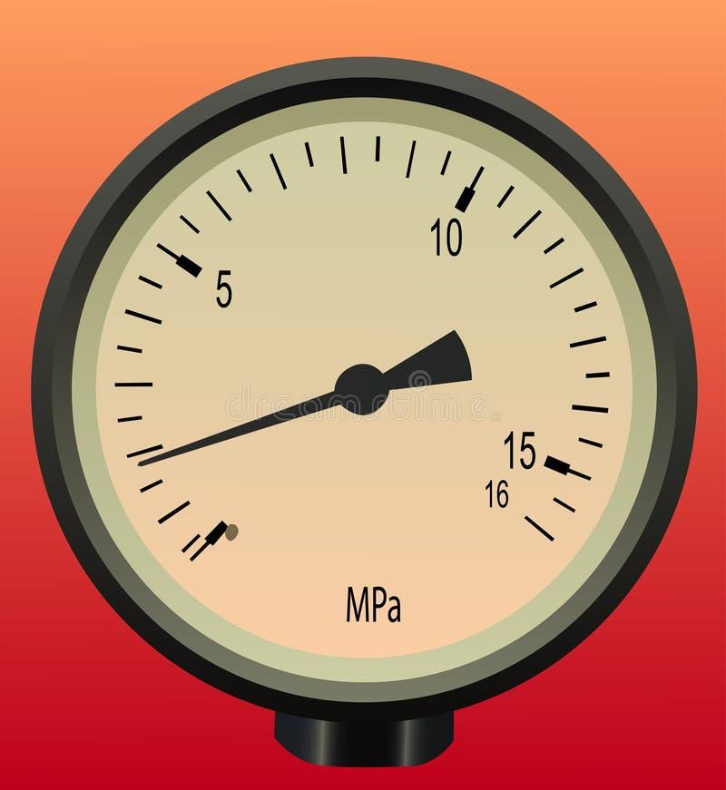 Manometer vector illustratie