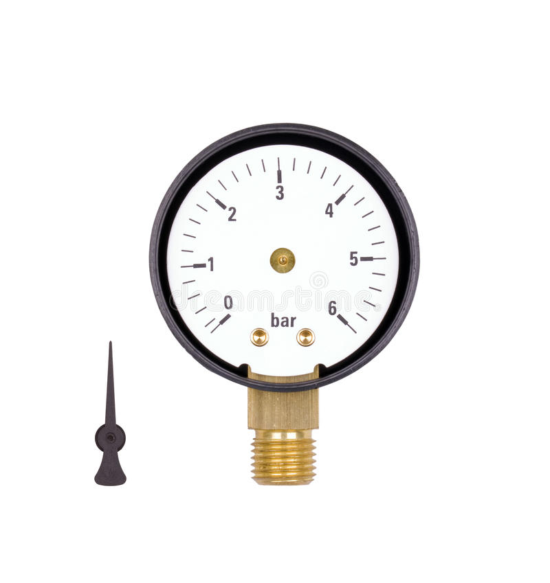Manometer. Isolated on white background royalty free stock image
