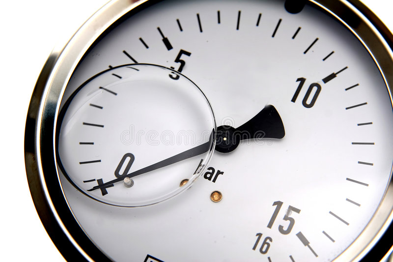 Manometer. With black hand which shows pressure stock photos