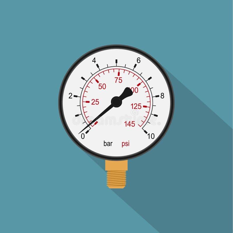 manometer stock illustrationer