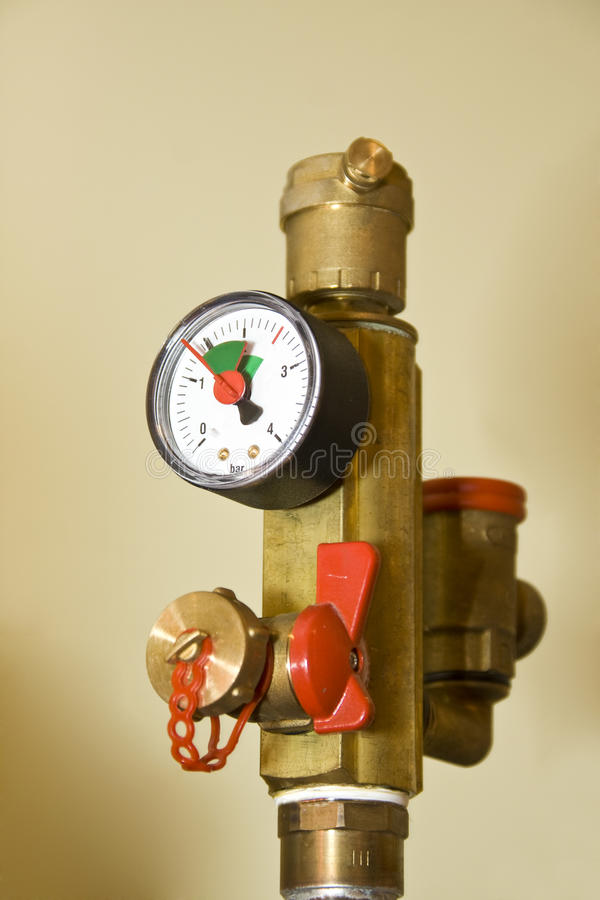Manometer And Armature Stock Photo