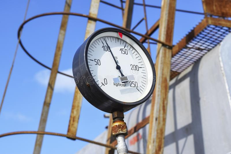The manometer is the device for measurement of pressure. Manomet stock photography