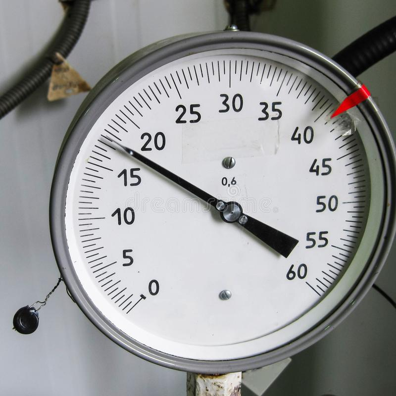 The manometer is the device for measurement of pressure. Manomet stock photo