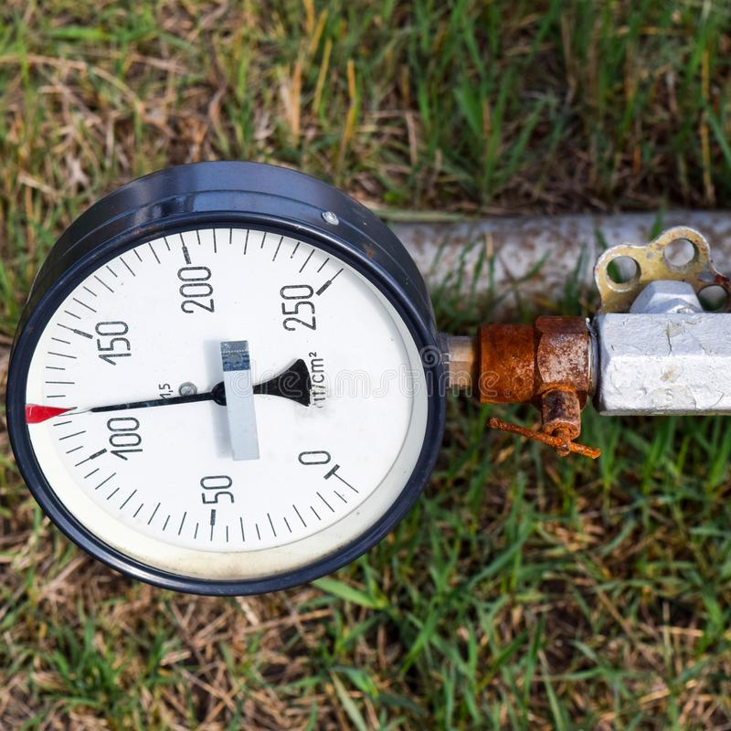 The manometer is the device for measurement of pressure. Manomet. The manometer is the device for measurement of pressure royalty free stock images