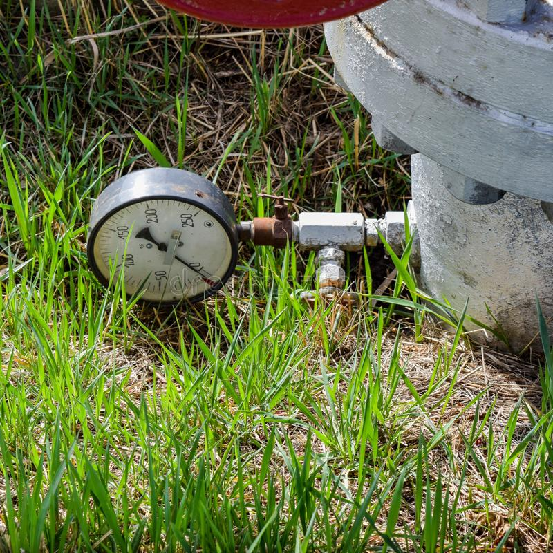The manometer is the device for measurement of pressure. Manomet. The manometer is the device for measurement of pressure royalty free stock photos