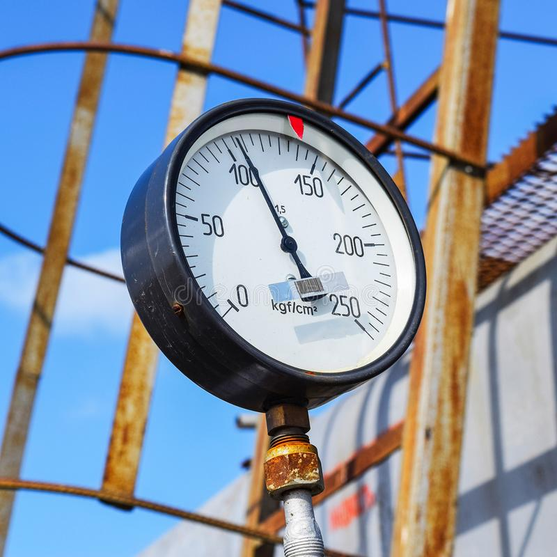 The manometer is the device for measurement of pressure. Manomet royalty free stock photography