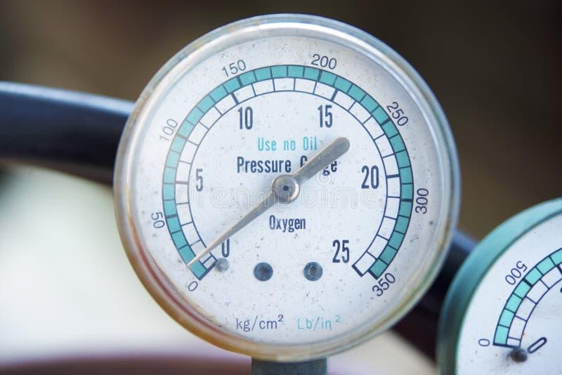 Manometer för två tryck fotografering för bildbyråer