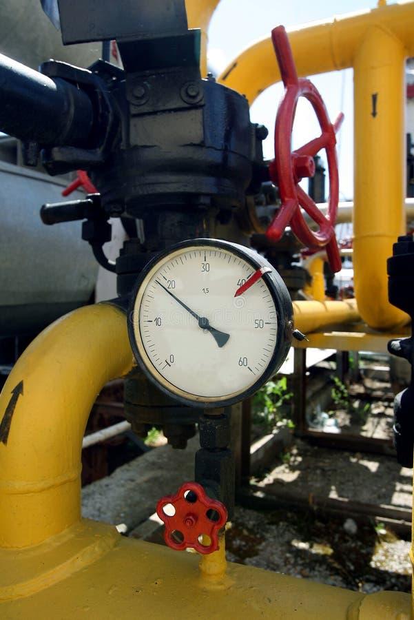 Download Manometer on gas pipe stock image. Image of horizontal - 8886975