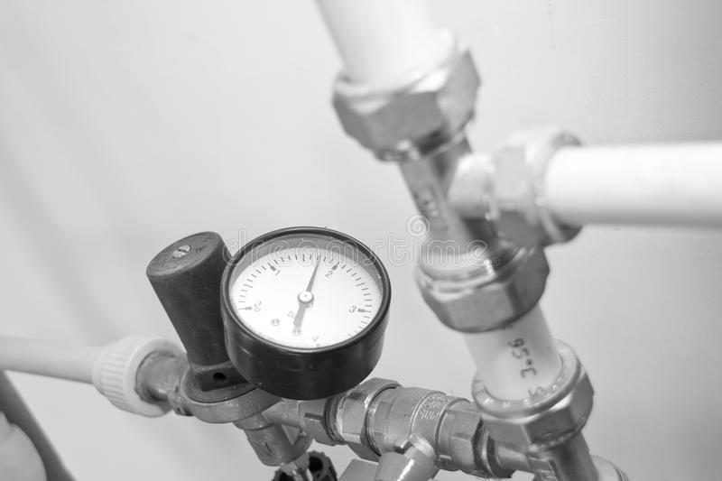 Download Manometer, Pipes And Armature Stock Photo - Image: 14310102