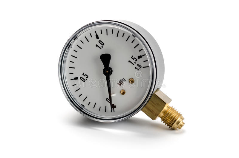 Manometer. For pressure measurement isolated on white background royalty free stock images
