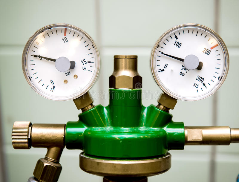 Download Manometer with reducer stock photo. Image of health, technology - 28189112