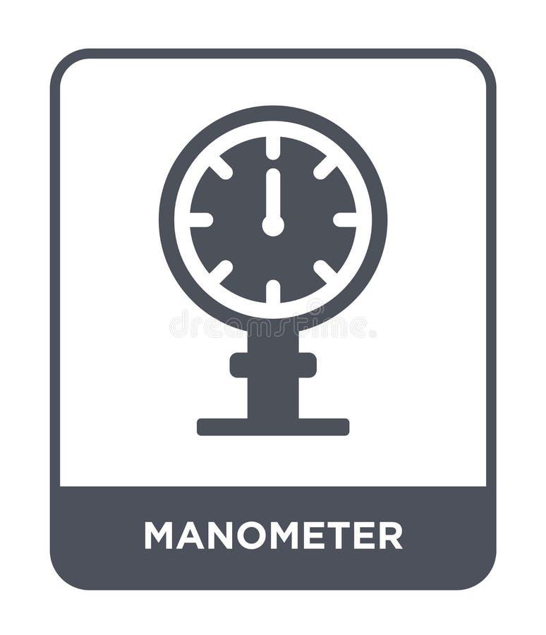 manometersymbol i moderiktig designstil manometersymbol som isoleras på vit bakgrund enkel och modern lägenhet för manometervekto vektor illustrationer