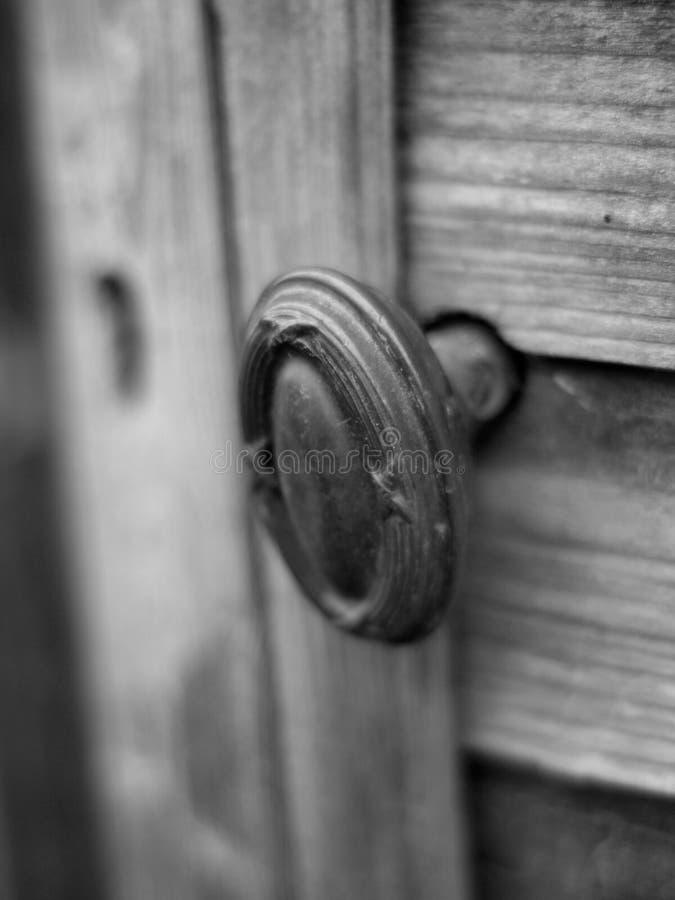 Manopola di porta d'ottone fotografia stock libera da diritti