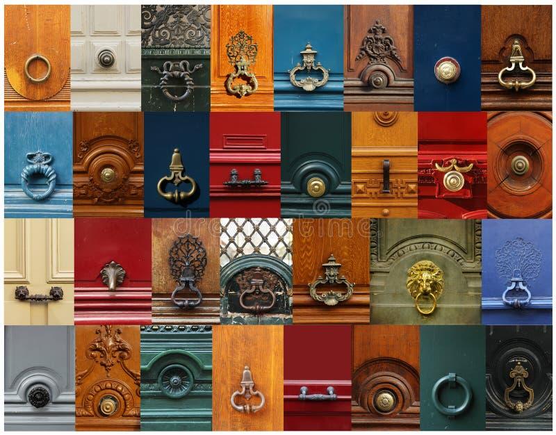 Manopole e collage delle maniglie immagine stock