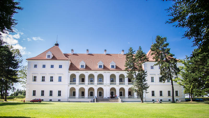 Manor house. In Birzai city, Lithuania stock image