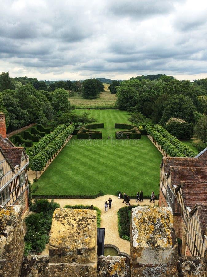 Manor House gardens royalty free stock image