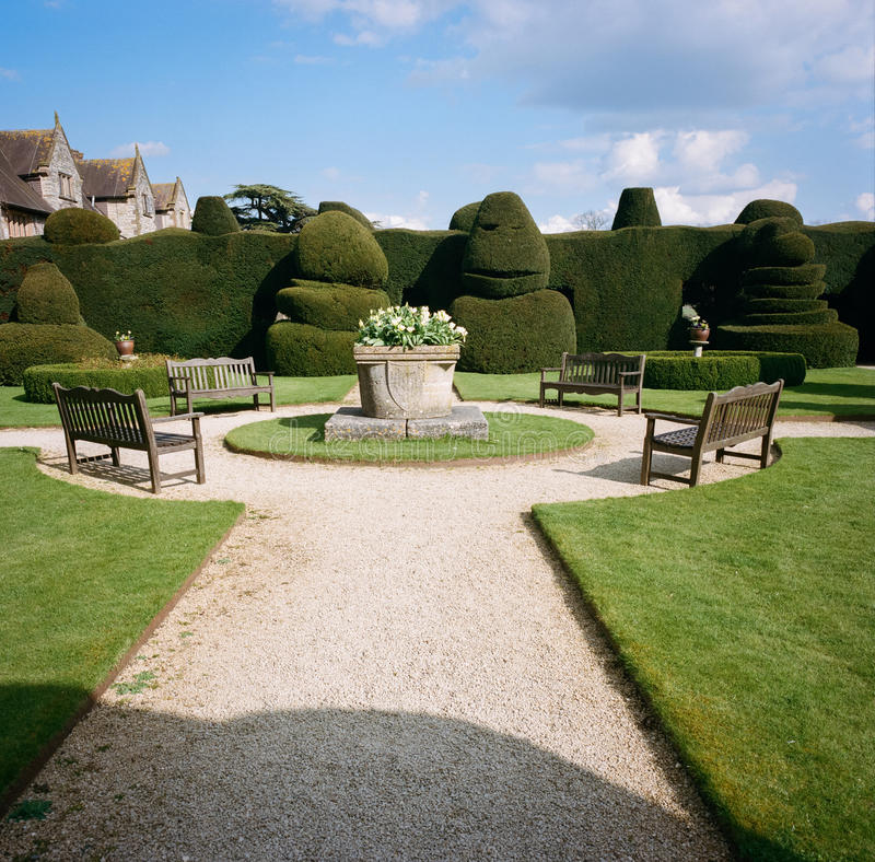Manor House Gardens in Warwickshire, England royalty free stock photography