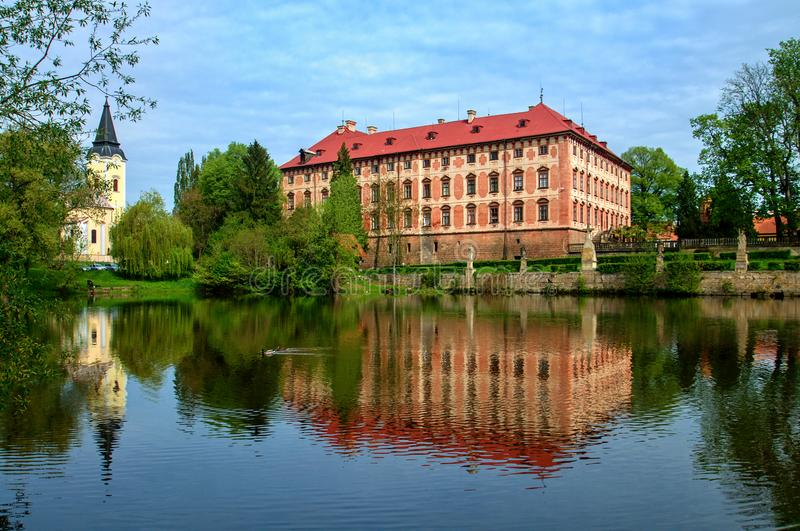 Manor house Libochovice. Czech Republic royalty free stock images