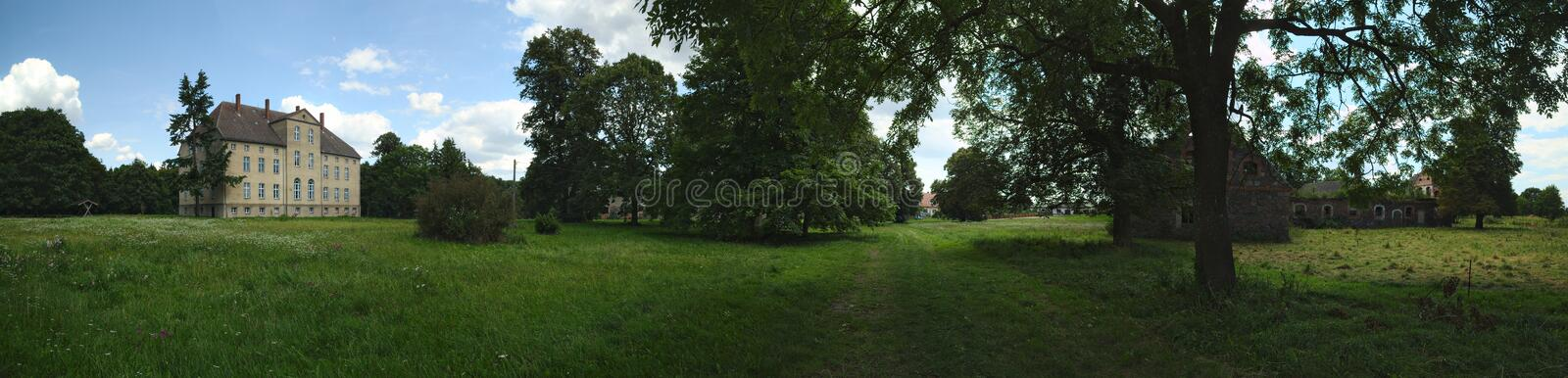 Download Manor House, Listed As Monument In Alt Plestlin, Mecklenburg-Vorpommern, Germany Stock Photo - Image of gray, grey: 98587850