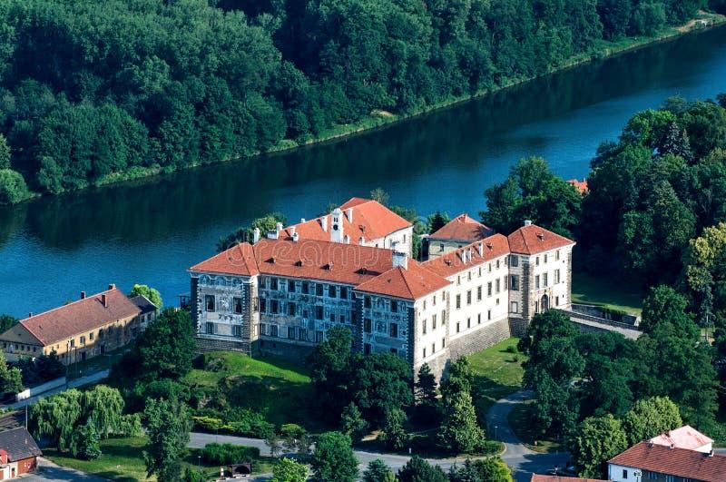 Manor Nelahozeves royalty-vrije stock afbeeldingen