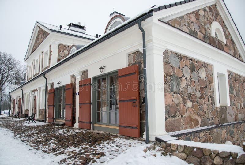 Manor Paliesiaus Dvaras in Litouwen royalty-vrije stock fotografie