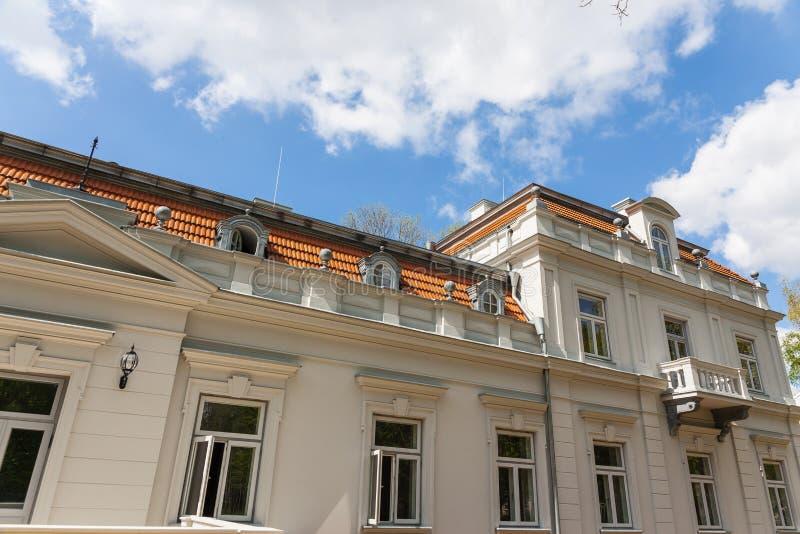 Manor window. Manor house in Sakiai, Lithuania, nineteen century royalty free stock photo