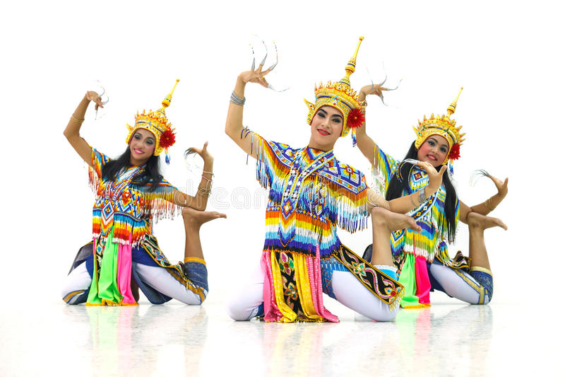 Manora a Folk Dance of Thailand. Manora a Folk Dance in South of Thailand stock photo