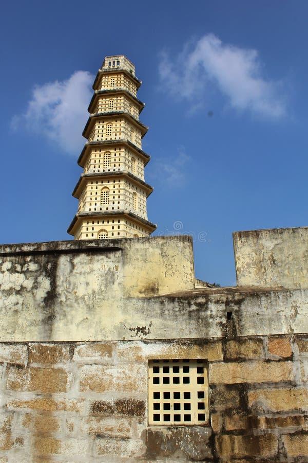 Manora fortu wierza z battlement i okno fotografia royalty free