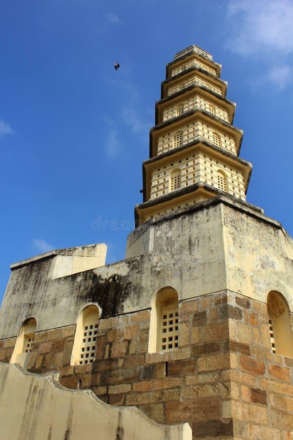 Manora fortu wierza z battlement i okno obrazy royalty free