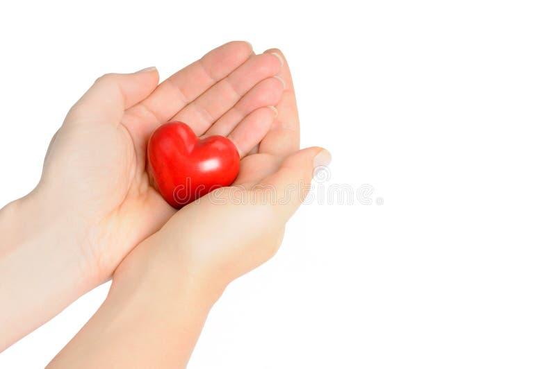 Manos Con El Corazón Imagen de archivo libre de regalías
