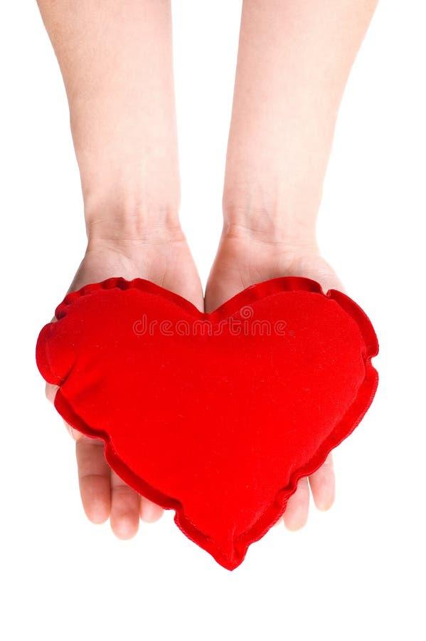 Manos con el corazón fotografía de archivo libre de regalías