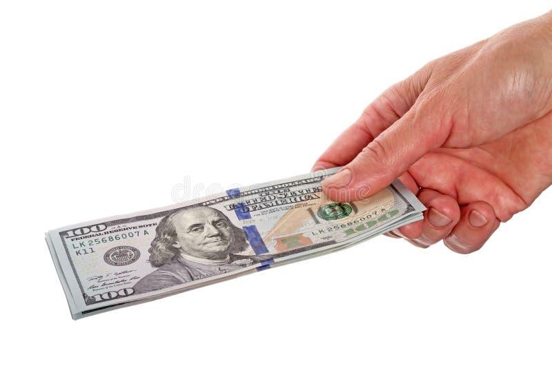 Download Manos Con Los Nuevos 100 Billetes De Dólar Imagen de archivo - Imagen de número, aislado: 41908007
