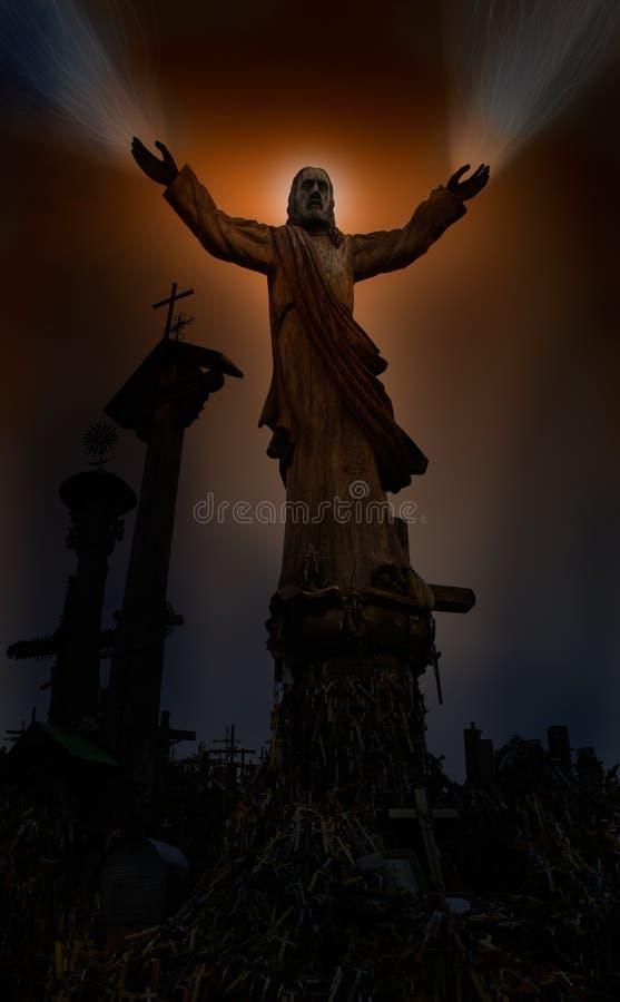 Manos curativas de Jesús foto de archivo libre de regalías