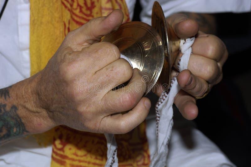Manos de Krishna de las liebres imágenes de archivo libres de regalías